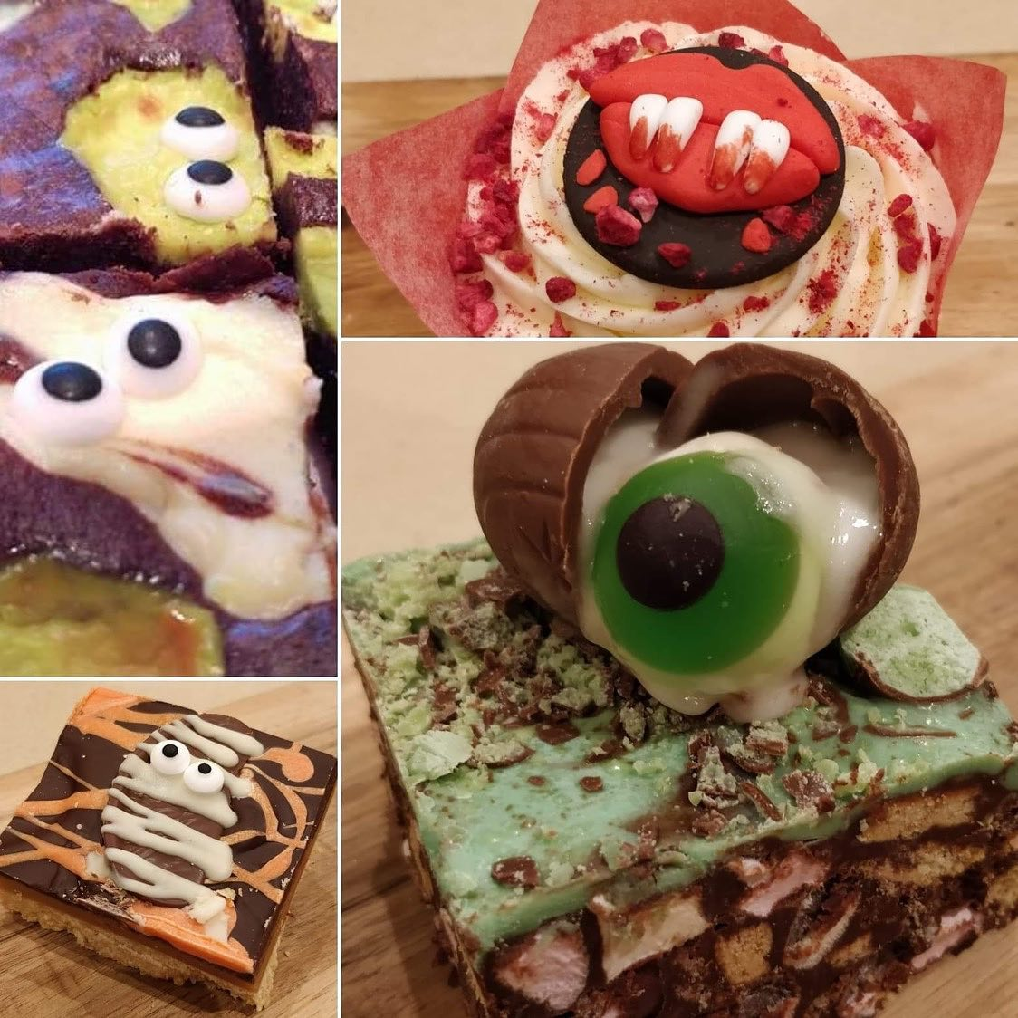 Halloween cakes at News & Deli