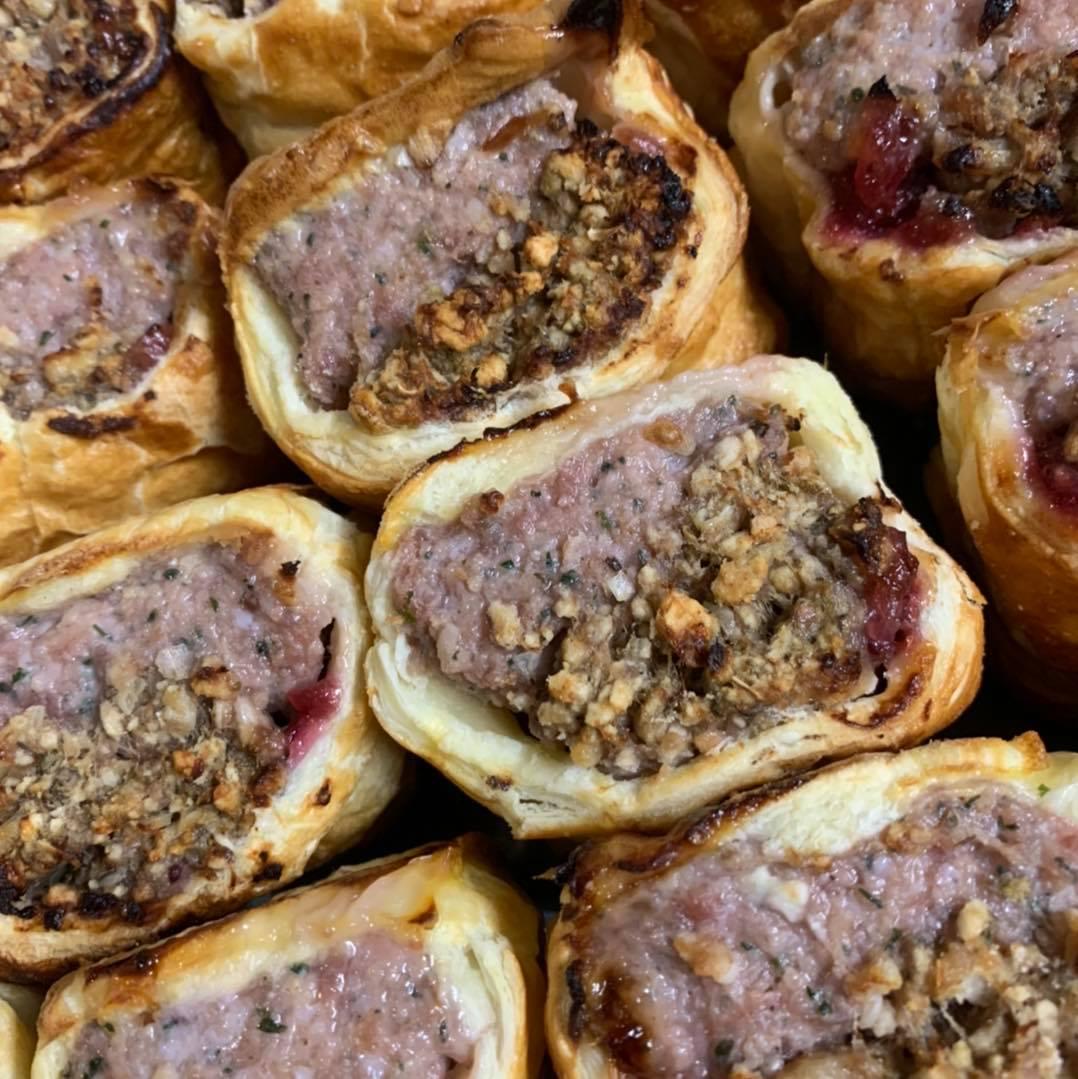 Noni's Family Kitchen Christmas dinner sausage rolls