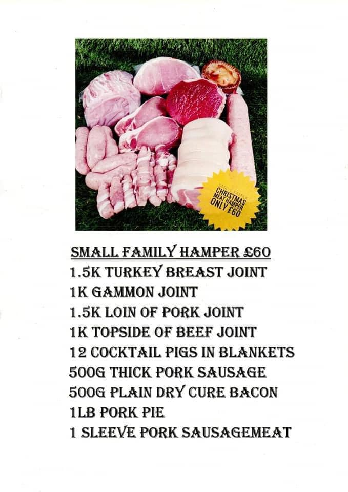 small family meat hamper christmas